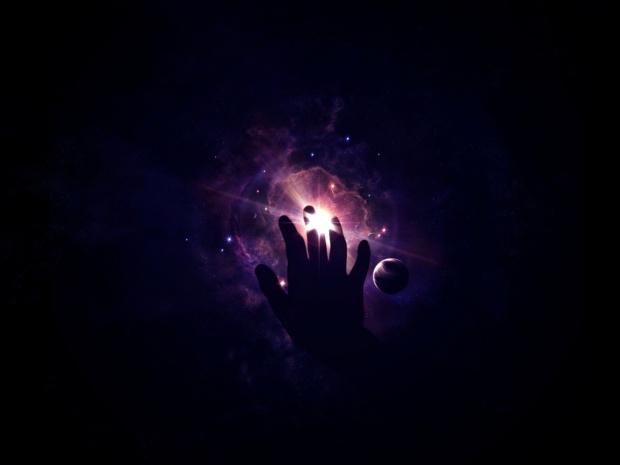 main toucher lumière